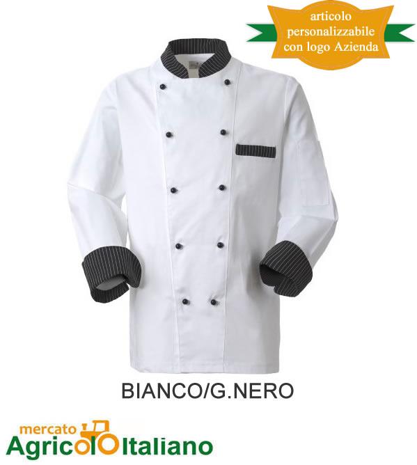 Giacca cuoco uomo Marte Rossini