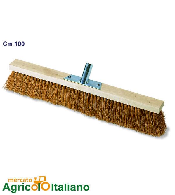 Scopa in fibra di cocco e coccia legno cm 100