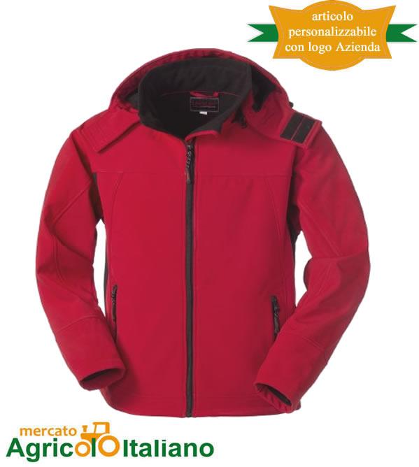 Giubbotto Softshell Shetland Rosso-Nero