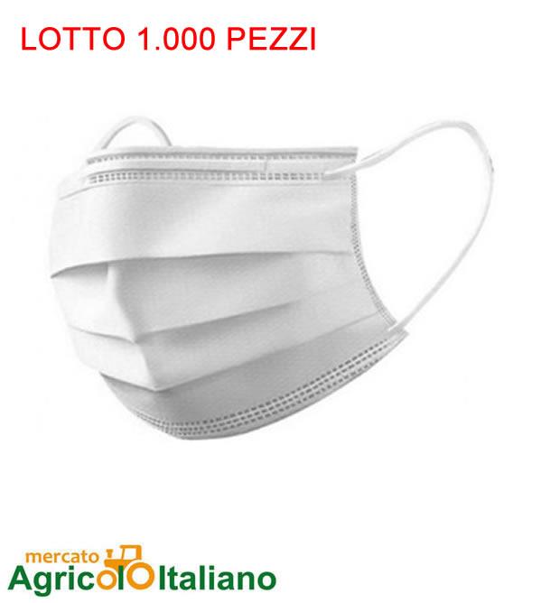 1.000 Mascherine chirurgiche certificate ad uso medico 21 centesimi Confezione 1000 Pz