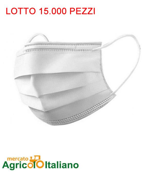 15.000 Mascherine chirurgiche certificate ad uso medico 16 centesimi Lotto 15.000 Pz