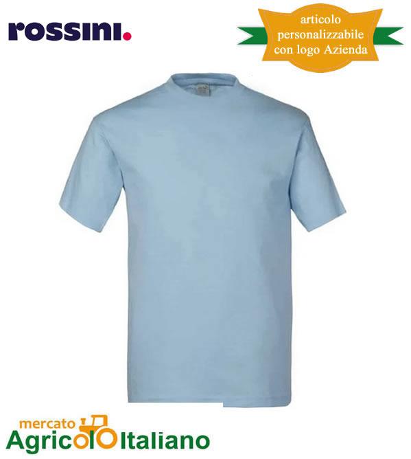 T-shirt Take Time girocollo 100% cotone - Celeste