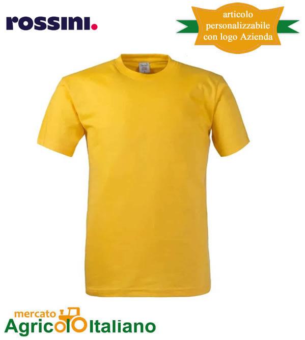 T-shirt Take Time girocollo 100% cotone - Giallo