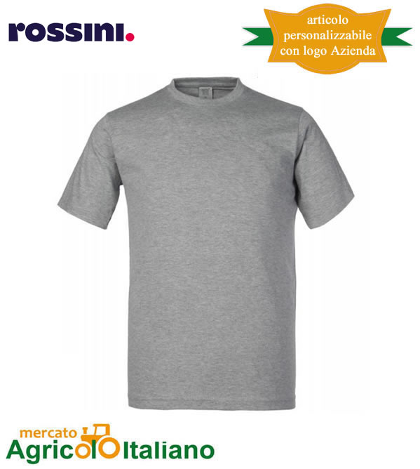 T-shirt Take Time girocollo 100% cotone - Grigio