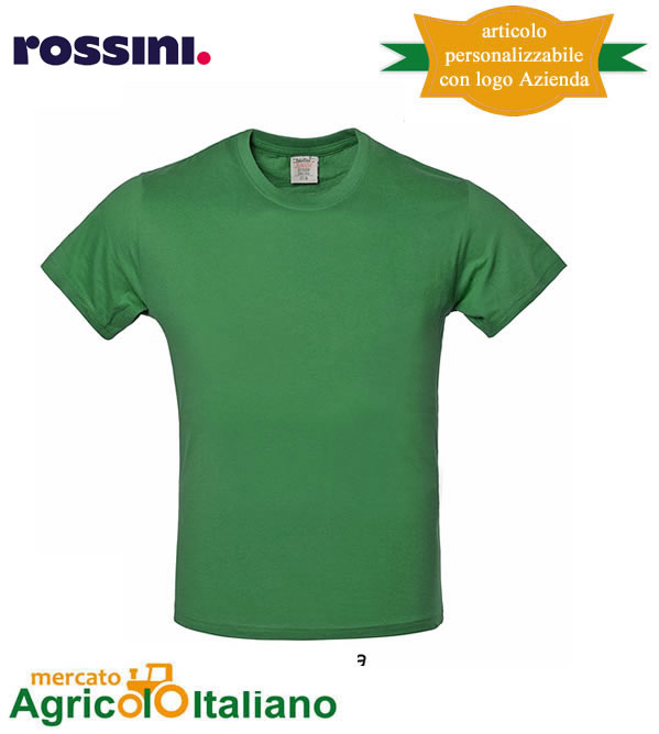 T-shirt Take Time girocollo 100% cotone - Verde Mela