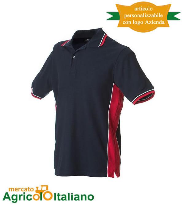 Polo manica corta Mod. Ankara. Colore navy/red