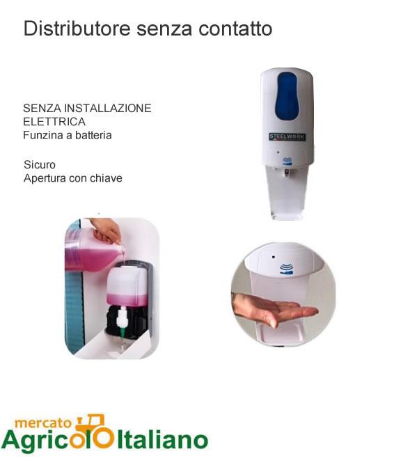 Distributore automatico gel igienzzante mani
